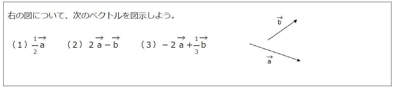 ベクトルの実数倍(問題)