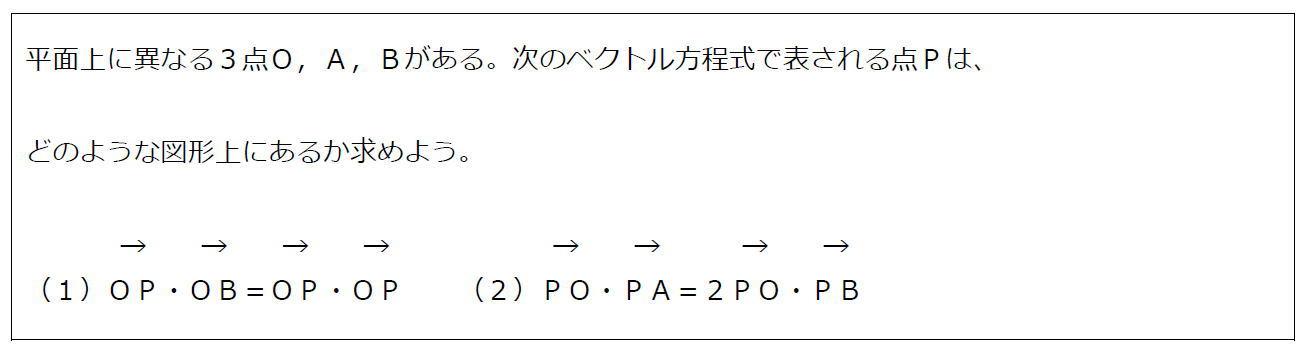 11.ベクトル方程式が表す円その2(問題)