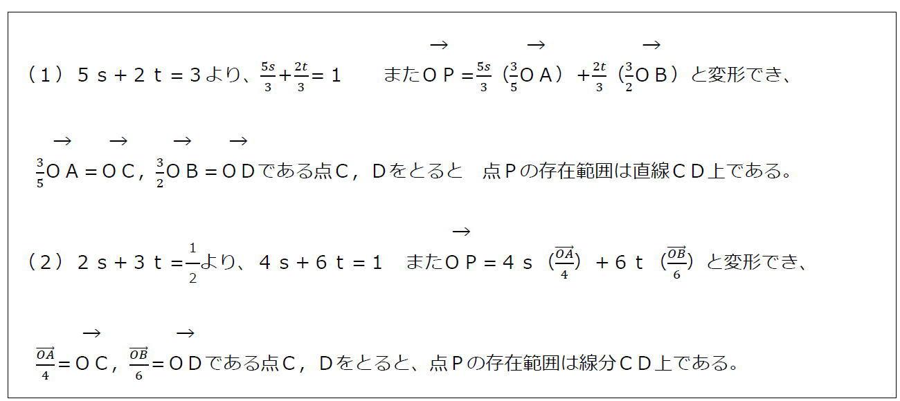 ベクトルの終点の存在範囲その2(答え)