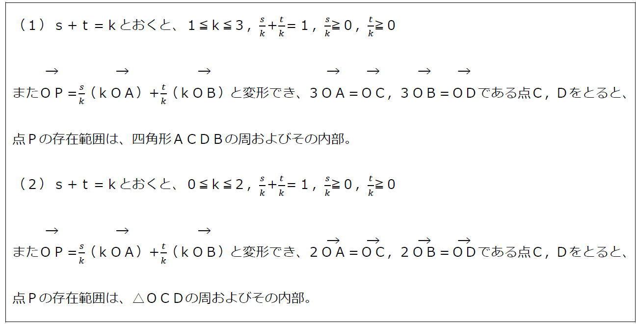 ベクトルの終点の存在範囲その3(答え)