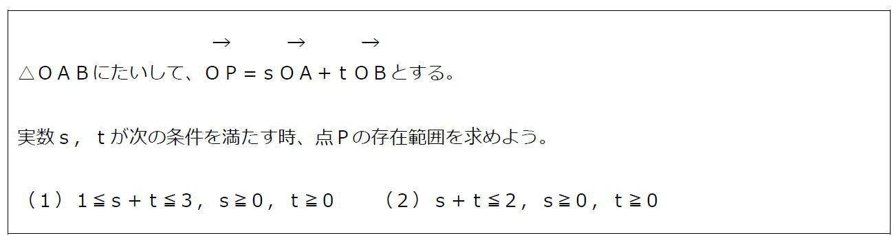 ベクトルの終点の存在範囲その3(問題)