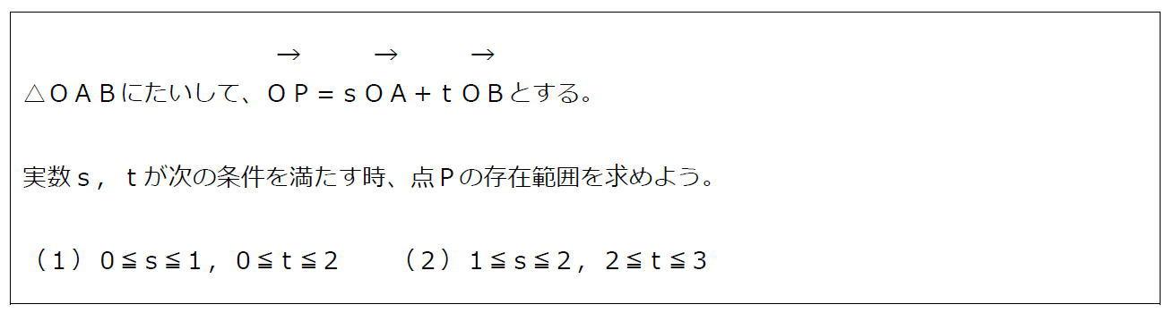 ベクトルの終点の存在範囲その4(問題)